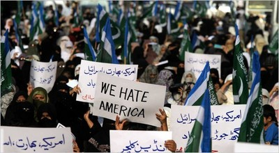A typical anti-American demonstration in Pakistan.