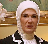 Emine Erdogan, wife of the Turkish prime minister.
