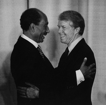 Anwar el-Sadat and Jimmy Carter